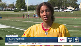 Laney Smith earns role as Truman High School's varsity football kicker