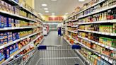 Fact check: Photos of bare, fully stocked grocery store shelves shared online to support false claim