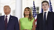 Barron Trump Towers Over Vice President Mike Pence At Republican National Convention