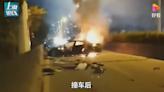Tesla廣州公路上焚毀 乘客當場死亡