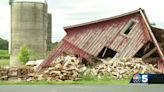 North Country family cleaning up after storm destroys 200-year-old barn