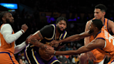 Dwight Howard and Anthony Davis get into altercation amid Lakers' ugly loss to Suns