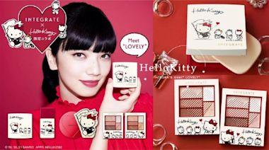 Kitty迷必收!Hello KittyXINTEGRATE聯名彩妝台灣開賣,附贈Kitty隨身鏡真的超可愛!