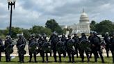 Rally In Support Of Capitol Attackers Draws A Small Crowd