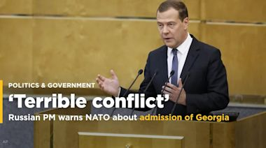 Russian prime minister warns NATO that admission of Georgia could trigger 'terrible conflict'