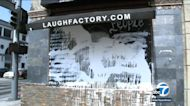 George Floyd mural vandalized at Laugh Factory in Hollywood