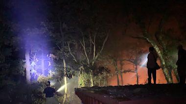 影/南投惠蓀林場森林火災擴大 延燒10公頃封園至16日