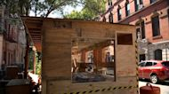Two-story outdoor dining structure raising eyebrows in East Village