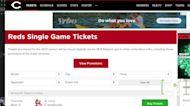 Cincinnati Reds ticket changes