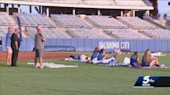 Die-hard softball fans wake up early to cheer on Team USA from Hall of Fame Stadium in OKC