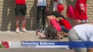 Community Releases Balloons In Memory Of James Stanback