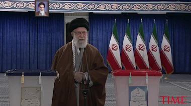 Iran's Supreme Leader Ali Khamenei Encourages Iranian People to Vote