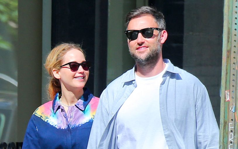 Pregnant Jennifer Lawrence and Husband Cooke Maroney Step Out for Sunday Stroll in New York City