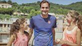 Watch Roger Federer surprise girls whose rooftop tennis match went viral