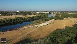 Migrants Cross Back and Forth Over the Rio Grande