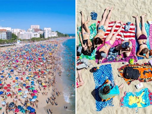 As the weather heats up, photos show people packing beaches around the world