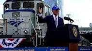'Amtrak Joe' Biden pushes infrastructure in Philly