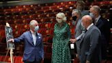 Show must go on: Andrew Lloyd Webber guides Charles and Camilla around refurbished theatre