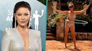 Catherine Zeta-Jones Shows Off Her Impressive Hula Hooping Skills In Bikini