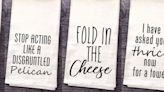 """These 'Schitt's Creek'-Inspired Kitchen Towels Feature Hilarious Quotes Like """"Fold in the Cheese"""""""