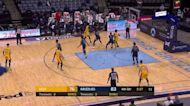 Tyler Herro with a deep 3 vs the Memphis Grizzlies