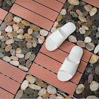 [結帳最高領11%回饋] 樂嫚妮 塑木地板/防水防腐/耐磨/造景/拼接/9片0.25坪-淺紅色