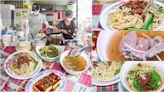 中興新村光明市場「陳爸陳媽麵攤」來碗黃乾+豬肝湯,省府早餐日常~