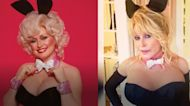 Dolly Parton slips on the Playboy bunny suit, 33 years later, for husband's birthday