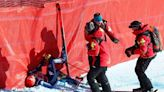 Nicole Schmidhofer suffers knee injury as crashes mar World Cup downhill