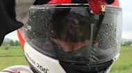 A mini electric wiper for your motorcycle helmet