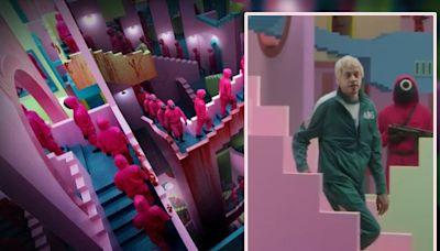 Pete孖雷米馬力惡搞《魷魚遊戲》 拍MV諷韓圜銀碼大兌美元少得可憐