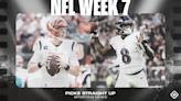 NFL picks, predictions for Week 7: Ravens stay hot vs. Bengals; Chiefs cool Titans; Saints edge Seahawks