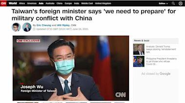 吳釗燮CNN專訪 坦言「須對武統做好準備」-台視新聞網