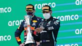 Lewis Hamilton charges past Max Verstappen to claim fifth consecutive Spanish GP win