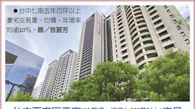 台中七期 億級豪宅交易翻倍 - A13 產業.地方 - 20210721 - 工商時報