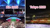 THEN AND NOW: Photos show the stark differences between past Olympics and the fan-free Tokyo opening ceremony