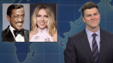 'SNL': Colin Jost Tricked into Making Whitewashed Casting Joke About Scarlett Johansson