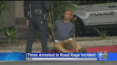 3 Arrested After Drivers Pull Weapons On Each Other After LAX Fender Bender