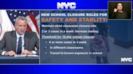 Mayor de Blasio announces new 4-case rule for schools