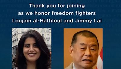 黎智英獲美國家憲法中心2021自由勳章獎