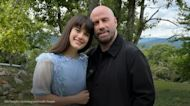 John Travolta and daughter Ella pose for a picture on set of her new film