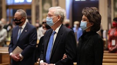 Biden, McConnell Join in Prayer But Face Tests of Fraught Ties