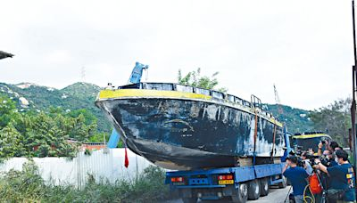 警再破「大飛基地」 扣四殺傷力鐵殼船