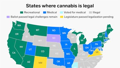 Marijuana legalization is sweeping the US. See every state where cannabis is legal.