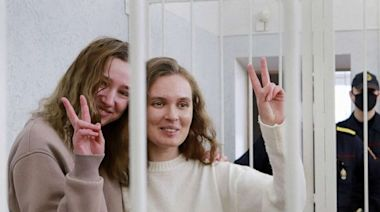 Belarus jails 2 journalists for 2 years for filming protests amid ongoing crackdown