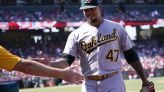 A's lose lead, go ahead in 10th, sweep Halos