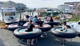 Company makes 'bumper tables' for restaurants amid virus
