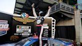 Kevin Harvick wins Brickyard 400 after Denny Hamlin crashes while leading