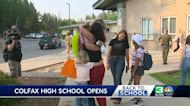 Colfax High School opens a week after River Fire nearly burns campus
