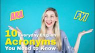 VT English | 十大常用英文縮寫 10 Everyday English Acronyms You Need to Know